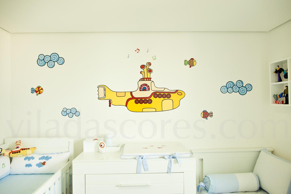 Davi e o submarino amarelo o fant stico mundo de vila for Bandas protectoras de paredes